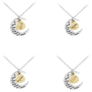 Jewelry - Love to Moon & Back Daughter Pendant Necklace